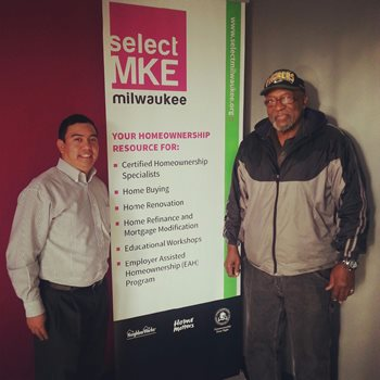 Eddie Jones (right) and his Select Milwaukee counselor