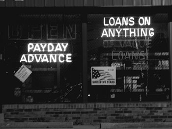 Photo of a payday lending storefront