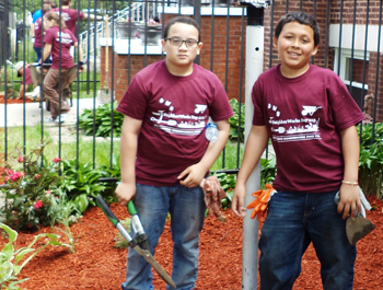 Two kids help revitalize their neighborhood