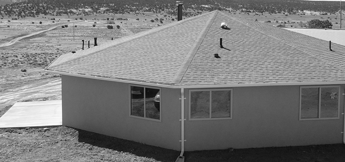 An octagonal house in New Mexico
