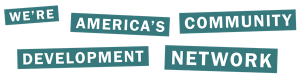 We're America's Community Development Network text graphic