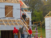 Students build homes for blighted blocks